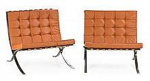 Ludwig Mies Van der Rohe Aquisgrán 1886 - Chicago 1969 A pair of Barcelona chair