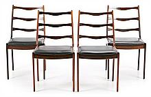 Johannes Andersen Dinamarca, activo en la segunda mitad del siglo XX Set of four chairs