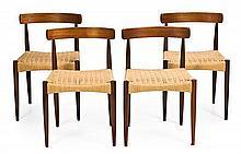 Niels Otto Moller & Johannes Andersen Dinamarca 1920 - 1981 & Dinamarca, activo en la segunda mitad del siglo XX Set of four chairs