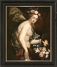 Workshop of Jan Boeckhorst Münster 1604 - Antwerp 1668 Flora or The Spring