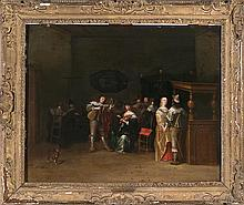 Attributed to Christoph Jacobsz van der Lamen Brussels circa 1606 - Antwerp circa 1652 Interior