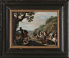 Flemish school, 17th Century.  Circle of Sébastien Vrancx  Battle Scene