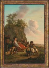 Italian or French school, 18th Century  Pastoral scene