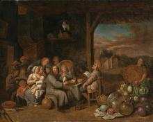Dutch school, 17th Century  Tavern interior