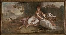 Attributed to Spanish school, 18th Century  Leda and the Swan