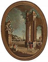 Italian school, 18th Century. Follower of Giovanni Paolo Panini  Ruins
