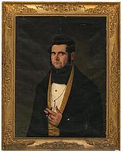 Antoni Esplugas i Gual Vilanova i La Geltrú, active in Barcelona during the mid 19th Century Male portrait