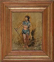 Evariste Carpentier Kuurne 1845 - Lieja 1922 Portrait of Rosita the acrobat