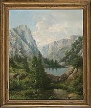 Central European or American school, 19th Century  Mountain landscape