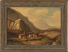 Attributed to Friedrich Wilhelm Keyl Frankfurt 1823 - Londres 1871 Landscape with deer