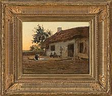 Ferdinand Chaigneau Bordeaux 1830 - Barbizon 1906 Rural Scene