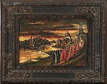 Attributed to Stephen Robert Koekkoek London 1887 – Santiago de Chile 1934 Procession