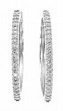 Pendientes criollas de diamantes