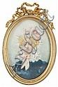 Escuela francesa del último tercio del siglo XIX Señora con cofia Retrato en miniatura al gouache sobre marfil