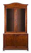 A mahogany Elizabethan-Alphonsine glass cabinet, from the second half of the 19th Century