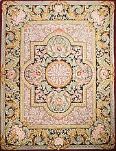 A wool Spanish carpet of the royal Factory in Neoclassical style, circa 1930