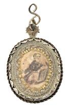 A silver Reliquary pendant, from the 18th - 19th Centuries
