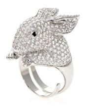 A rabbit-shaped ring