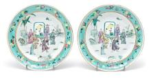 Pair of Chinese porcelain plates, early 20th Century