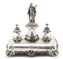 Silver inkstand, early 20th Century