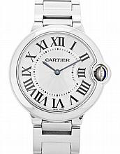 Cartier, Ballon Bleu, a steel gentleman's wristwatch