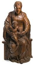 Spanish School, second quarter of the 16th Century  The Virgin with the Child