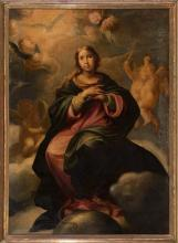 Attributed to Jusepe Martínez Zaragoza 1600 - 1682 The Immaculate Conception