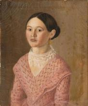 Hispanic American School, possibly Mexican, mid-19th-century  Portrait of a Girl