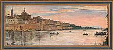 Mariano Miguel González Madrid 1884 o 1885 - La Habana 1954 View of the Ebro passing through Zaragoza
