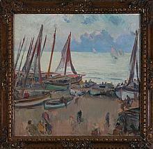 Alexandre de Cabanyes Vilanova i La Geltrú 1877 - 1972 Rowboats in Vilanova i la Geltrú