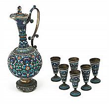 Russian decanter set in