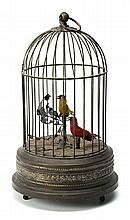 A probably French cage with a robot bird, from the late 19th Century-first decades of the 20th Century  Movement and bird's singing mec