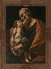Giovanni Battista Beinaschi Fossano 1636 - Naples 1688  Saint Joseph with the Child  Oil on canvas  We thank the professor Alessandro A