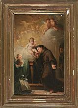 Mariano Salvador Maella Valencia 1739 - Madrid 1819  The appearance of Baby Jesus to Saint Anthony of Padua Oil on canvas  Made circa 1