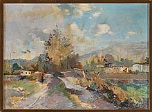 Pere Gussinyé Olot 1890 - 1980  Landscape Oil on canvas Signed 50,4x68 cm