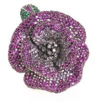 Flower-shaped ring