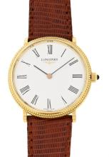 Longines, a gentleman's gold wristwatch