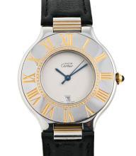 Cartier, 21, a gentleman's steel wristwatch
