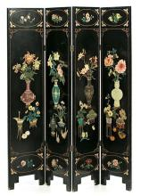 Chinese four-leaf screen in