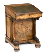 Victorian Davenport in burr walnut, late 19th Century