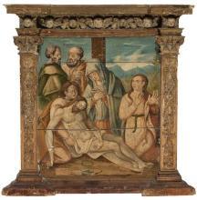 Spanish School, mid-16th-century  The Lamentation over the Dead Christ
