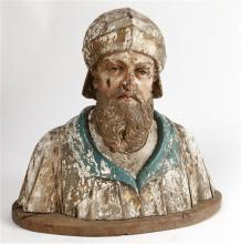 Flemish school, 16th century  Male bust