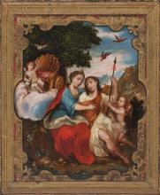 Mexican School, 18th century  Diana and Endymion
