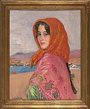 Laureà Barrau Barcelona 1864 - Santa Eulàlia del Riu 1957 Young lady from Ibiza