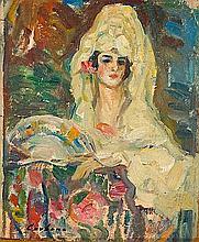 Joan Cardona Lladós Barcelona 1877 - 1957 Spanish Young Lady