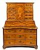 German bureau/cabinet in walnut with fine wood inlay, early 20th Century 167x117x74 cm