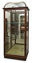 Glass cabinet in mahogany, early twentieth century