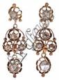 Pendientes y broche de diamantes, de mediados del siglo XIX