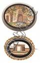 Dos placas italianas en micromosaico, del siglo XIX