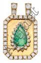 Colgante de esmeralda y diamantes